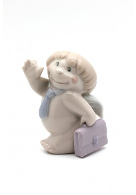 Nao Porcelain Figurines from the Cheeky Greetings Collection - Good Luck