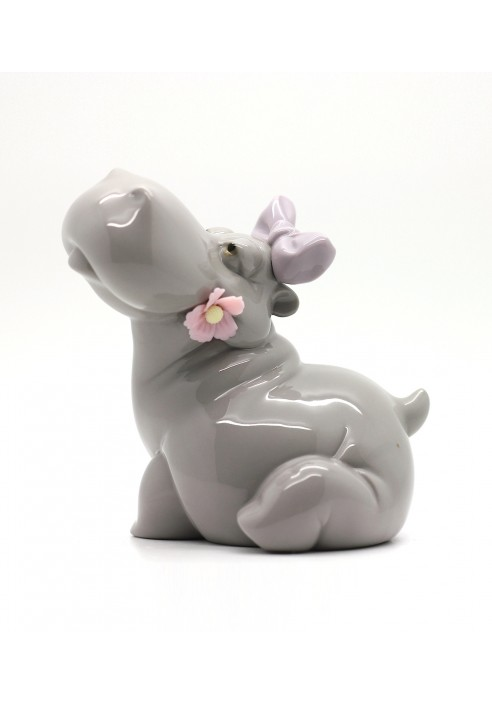 Nao Porcelain Figurine Hippo In Love From The Animals