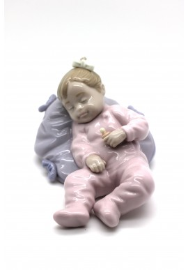 shine nadal porcelain figurine playing to be secretary - Playing with Child
