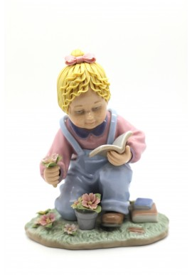 shine nadal porcelain figurine playing to be secretary - Tales for Teddy