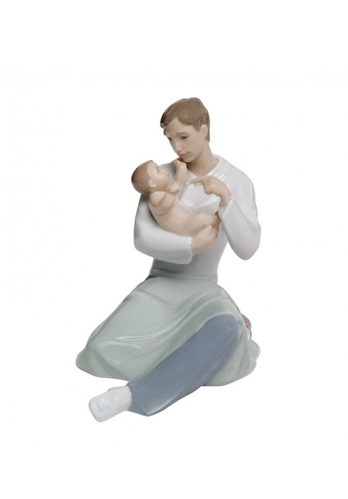 Nao porcelain figurine a fathers love from the family collection father with child figurine - Consider including lladro porcelain figurines home decoration ...