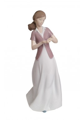 Decorative Nao figurine porcelain from the love collection. - Present of Love