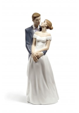 Decorative Nao figurine porcelain from the love collection. - Unforgettable Day