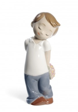 Decorative Nao figurine porcelain from the love collection. - Love Is... Him