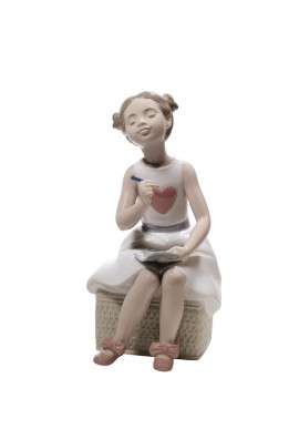 Decorative Nao figurine porcelain from the love collection. - My First Letter