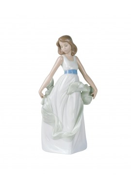 Nao by Lladro Porcelain Figurines from Youth Collection - Walking on Air