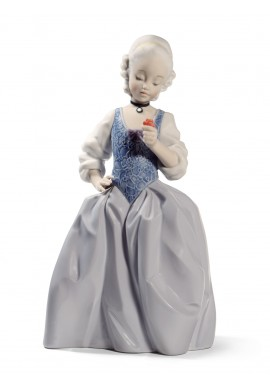 Nao by Lladro Porcelain Figurines from Youth Collection - Rococo Girl With Flower
