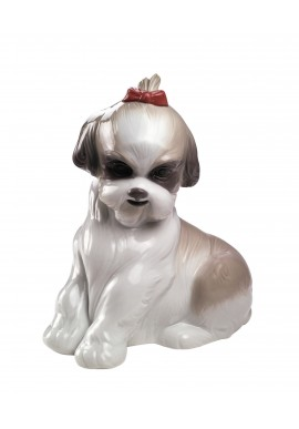 Nao Porcelain Figurines from the Animals Collection - Pampered Shih-Tzu