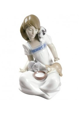 Nao by Lladro Porcelain Figurines from Youth Collection - Breakfast