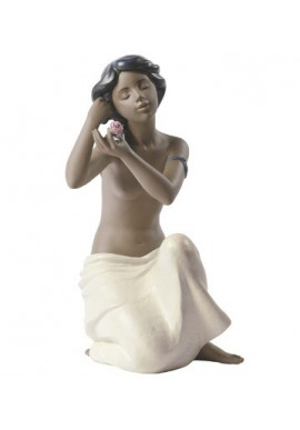 Nao by Lladro Porcelain Figurines from Youth Collection - Nude with Flower