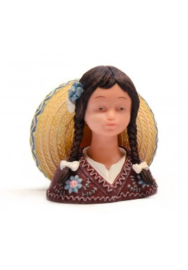 nadal porcelain figures viva mexico - Mexican Girl Bust