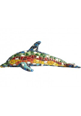 Barcino Designs Official Online Store - Decorative Mosaic Figurines Handcrafted and Hand Painted  - Mosaic Dolphin