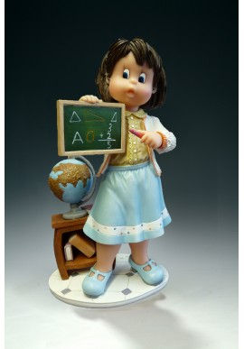 The professions figurine collection by Nadal. Nadal porcelain figurines made in spain.  - Teacher