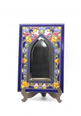 Decorative Spanish Ceramic Plates Handcrafted and Hand Painted in Spain - Handmade Ceramic Mirror with Enamel Paint