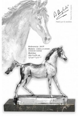 Bronze Sculptures - Discover the Complete Collection of Sculptures Handcrafted in Spain - Silver Arabian Horse