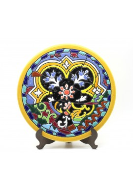 Decorative Spanish Ceramic Plates Handcrafted and Hand Painted in Spain - 15cm Handmade Ceramic Plate with Enamel & 24Kt Gold