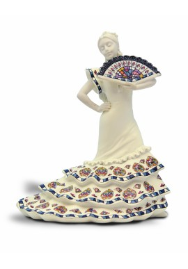 The professions figurine collection by Nadal. Nadal porcelain figurines made in spain.  - Sevillana with Fan