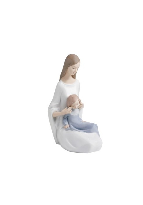Nao Porcelain Figure The Love Of A Father And A Moment