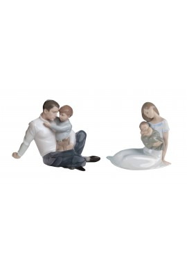 Decorative Nao Porcelain Figurines from the Family Collection - To Love and Protect & Light of My Days (Boy)