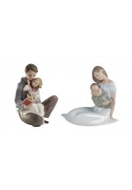 Decorative Nao Porcelain Figurines from the Family Collection - Read Me a Story & Light of My Days (Boy)