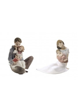 Decorative Nao Porcelain Figurines from the Family Collection - Read Me a Story & Light of My Days (Girl)