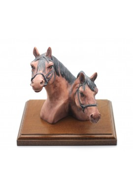 Vintage Collection - Double Horse Head Figurine
