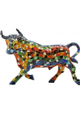 Barcino Designs Official Online Store - Decorative Mosaic Figurines Handcrafted and Hand Painted  - Mosaic Spanish Bull