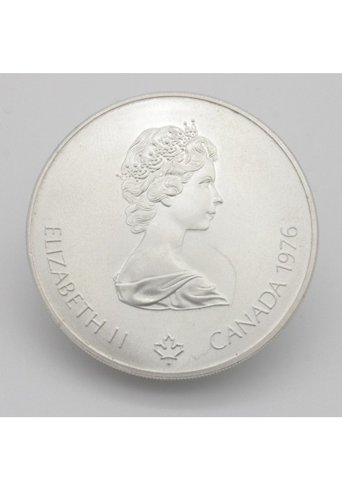 1976 Montreal Olympics 5 Canadian Dollar Silver Coin