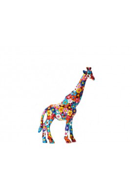 Barcino Designs Official Online Store - Decorative Mosaic Figurines Handcrafted and Hand Painted  - Mosaic Flower Giraffe