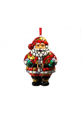 Gifts for Christmas - Mosaic Santa Claus Ornament