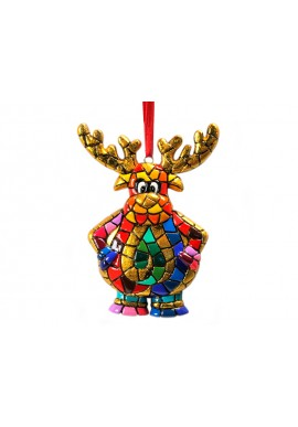 Gifts for Christmas - Mosaic Reindeer Ornament