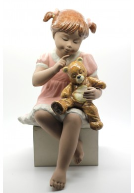 Girl Sitting with Her Teddy