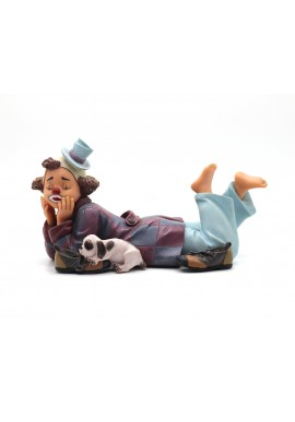 Collectible porcelain figurines and bronze sculptures - Barefooted Clown