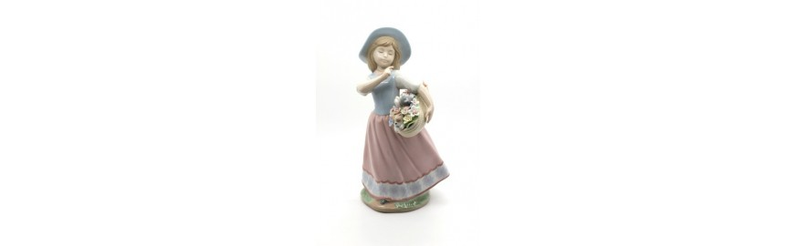shine nadal porcelain figurine playing to be secretary