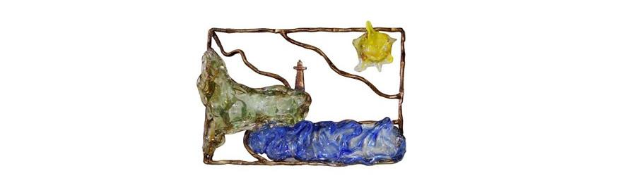 Esculturas de Bronce Decoradas con Cristal Artístico