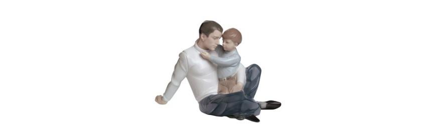 Figuras de Porcelana Nao de la Colección Familia