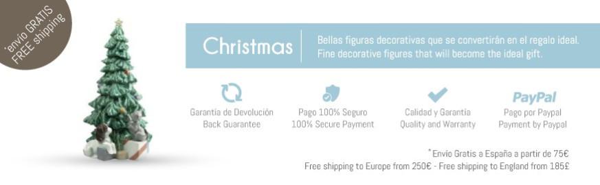 Figuras de porcelana Nao de la colección Navidad