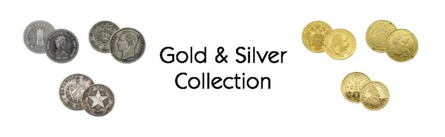 monedas de colección, monedas de oro y plata