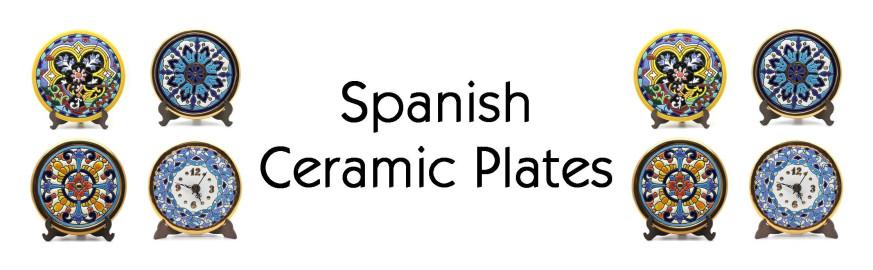 Platos de Cerámica Decorativos Fabricado de Forma Artesanal y Pintados a Mano